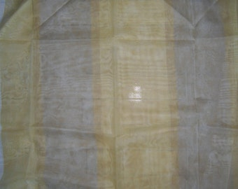 """Designer Fabric - Arte Siena - Sheer Fabric - Discontinued Sample - Gold and Silver Design - 45"""" x 60"""""""