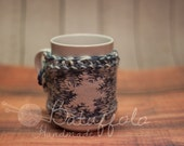 Cup - cover wool with white snowflake