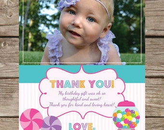 Printable Candy or Sweet Shop Thank You Card