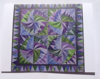 Dizzying Quilt Note Card (folded)