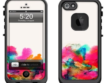Lifeproof iPhone 6 Fre, LifeProof iPhone 5 5S 5C Fre Nuud, Lifeproof iPhone 4 4S Fre Case Decal Skin Cover - Watercolor Abstract