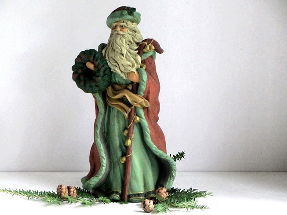Father christmas st nick old world santa figurine statue