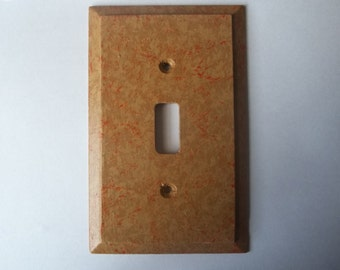 Faux Stone Hand Painted Wood Single Switchplate FREE SHIPPING
