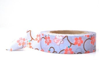 Floral Washi Tape with Coral Flowers