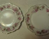 Vintage Hermann Ohme Porcelain Germany Pair Eglantine Bread Plates