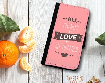 All You Need Is Love Wallet Phone Case. Available for iPhone 4/4s, 5/5s, 5c, 6/6s or 6+/6s+