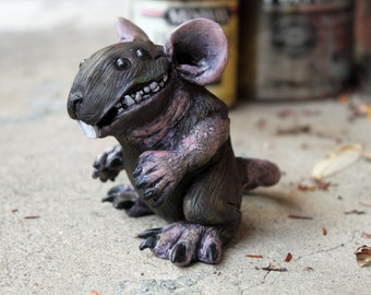Bigsby; The Mutant Rat- Clay Sculpture