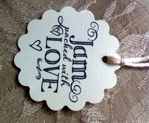 Items Similar To Cute Wedding Favor Tags For Jam Or Jelly