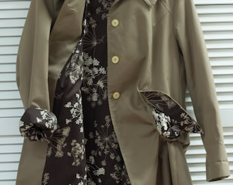 Vintage 50s Raincoat L with new lining