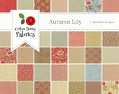 Autumn Lily Layer Cake by Blackbird Designs for Moda - One Layer Cake - 2740LC
