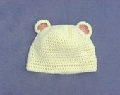 Custom Listing for Deana - Ivory Bear Hat