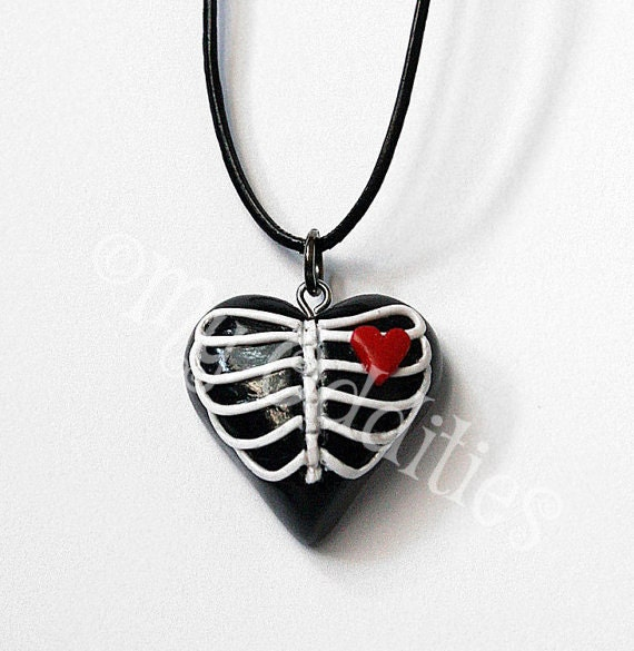 Ribcage Heart Necklace