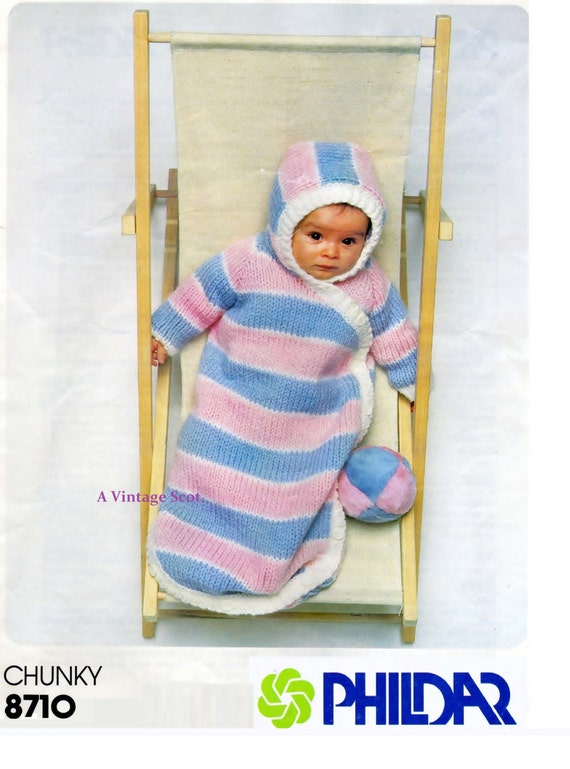 Knitting Patterns For Chunky Weight Yarn : Baby Carrying / Sleeping Bag in Chunky / Bulky weight yarn 0