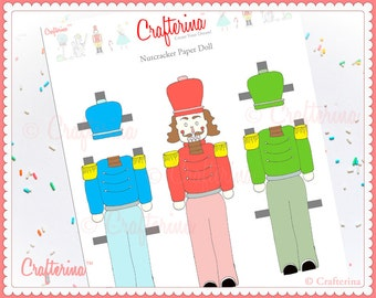 Nutcracker Paper Doll Craft Kit - DIY Print and Create - Educational Activity - Ballet and Dance