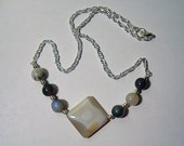 All the Marbles - Cream and Grey Agate Necklace