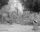 Black and White, Photography, Graveyard Photography, Historic Graveyard, Dark Art, Tombstone Art, Tombstone Prints, Graveyard Prints, Dark