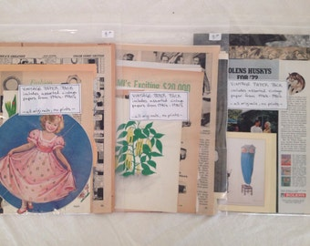 BUY 3 Vintage  Paper Packs - assorted magazine images from 1940's - 1980's