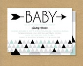 Baby Shower Invitation -- Triangles & Arrows — Gender Neutral Baby Shower