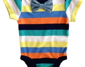 Trendy Baby boy onesie with Tie or Bow tie option, baby shower gift for boy