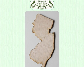 New Jersey State (Large) Wood Cut Out - Laser Cut