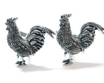 Rooster Chicken Cufflinks