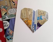 Handmade Origami Heart Greeting Card Matching Envelopes Adventure Time