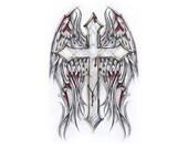 items similar to gotische wings tattoo flash tattoos fl geln. Black Bedroom Furniture Sets. Home Design Ideas