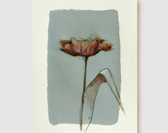 FLOWERS - Tulip - Drawings with Ink, charcoal, pencil and acrylic  on acid free paper Sennelier 200 gr by Cristina Ripper