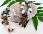 Necklace turtle and amazonite beads