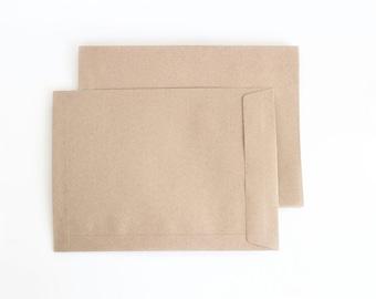 "10 pcs - 8 x 11"" Rustic paper envelopes - Recycled paper envelopes"