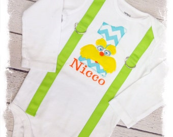 BOYS FIRST BIRTHDAY Outfit with Name-Boys Birthday Bodysuit with Suspenders and Crawlers, Cake Smash Outfit