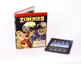 Zombies Pop Art Book iPad Cover- Tablet Case made from a Book