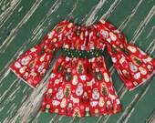 Matryoshka Nativity Dress - Long Sleeved Peasant Dress-SIZES  0-3MO-2T