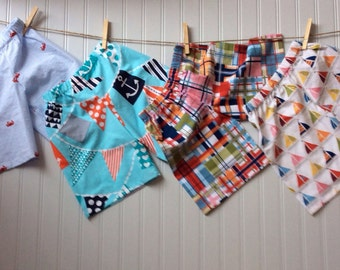 BOYS SHORTS available in any fabric on our site! Sizes 6mo - 8 years...let's construct your sibling set!