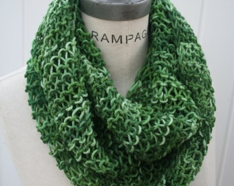 Hand knitted  Scarf Infinity Scarf Women Scarfs Fall Fashion Gifts - By PIYOYO