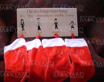 Wood Christmas Stocking Holder