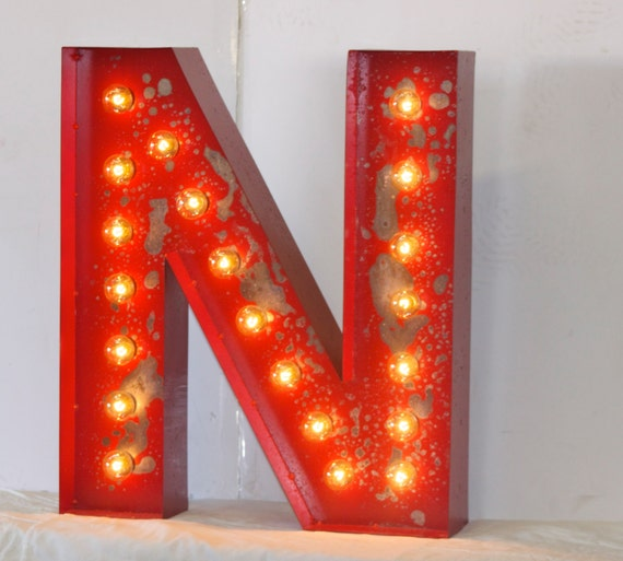 "SALE 24"" LARGE Old Vintage Style Marquee Letters Metal Steel ..."