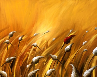 """Wind of Change CANVAS PRINT 48""""x30"""" Stretched Ready-to-Hang  & Embellished  - Art by Osnat"""