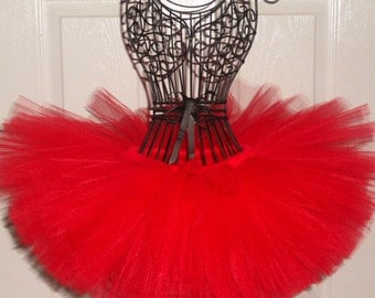 SALE-Red Tutu Red Baby Tutu Red Birthday Tutu Red Minnie Mouse Tutu First 1st Birthday Tutu Classic Tutu Red-Newborn Infant Toddler