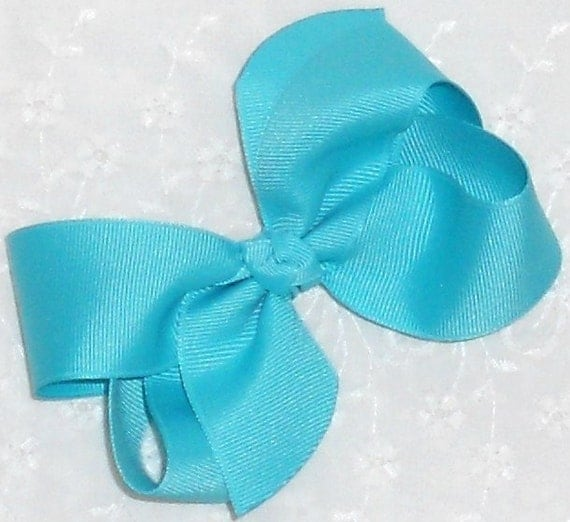 """... Bow Frozen Bow-Medium 4"""" Twist Boutique Bow Baby Bow Toddler Hair Clip"""