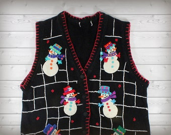 Snowman Christmas Sweater Vest