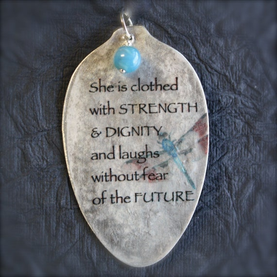 She Is Clothed With Strength And Dignity Bracelet: Proverbs 31:25 She Is Clothed In Strength By Kyleemaedesigns