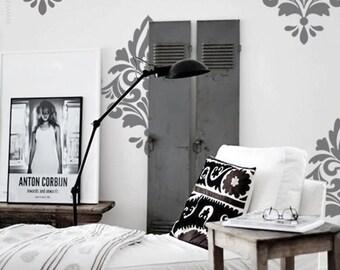 Big Damask Pattern Vinyl Wall Decal, Home Decoration, Wall Pattern, Wall Stickers - ID659