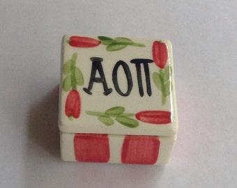 Alpha Omicron Pi Square Pin Box