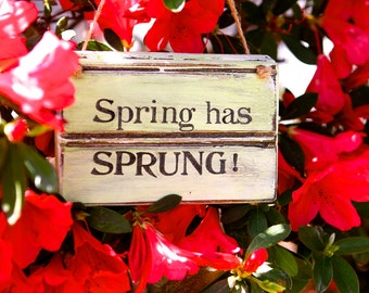 Rustic Spring Sign - Spring Sign - Spring Decor