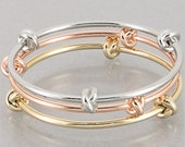 Past Present Future Forever Love Knot Bangle