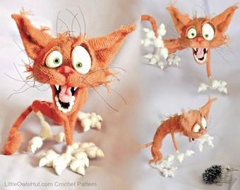 094 Orange Cat Arestarh with wire frame - Amigurumi Crochet Pattern PDF file by Pertseva Etsy