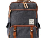Back to school backpack (Charcoal gray)