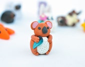 Miniature Koala Bear Polymer Clay