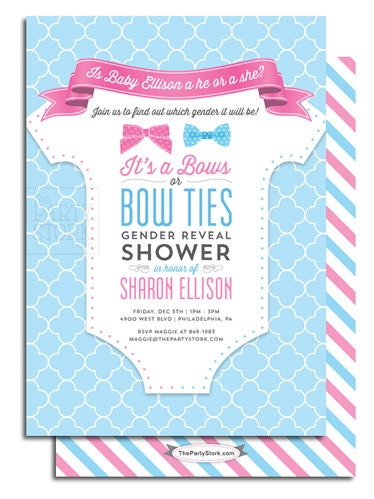Clean image with regard to printable gender reveal invitations